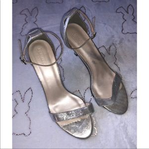 Silver David's Bridal Heels